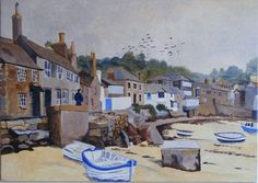 The Harbour, Mousehole Buy this painting at http://alanwhitney.artweb.com/