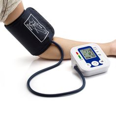 Portable Bras Blood Pressure Pulse Moniteur Numérique de La Pression Artérielle Supérieure Mètres Tensiomètre Moniteurs de Soins de Santé