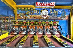 Skeetball @ the Coney Island Arcade ~ Creepy Halloween, Halloween Kids, Skee Ball, Retro Arcade, Coney Island, Home Entertainment, Great Memories, Up Girl, Arcade Games