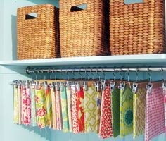 Great fabric idea for small collections. :-)