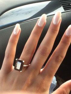 Wedding nails natural