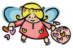 Cute little fairy machine embroidery design. Machine embroidery design. www.embroideres.com