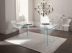 Glass table BACCO by Tonelli Design