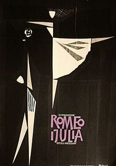 By Zbigniew Kaja (1924- 1983), Romeo and Juliet, 1 9 6 0, Opera poster.