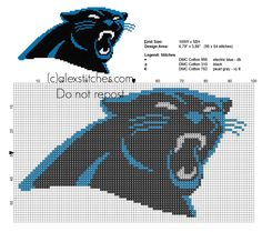 Carolina Panthers logo free cross stitch pattern National Football League  NFL C2c Crochet 88a6eb695