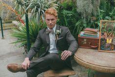 Naturalist greenhouse wedding