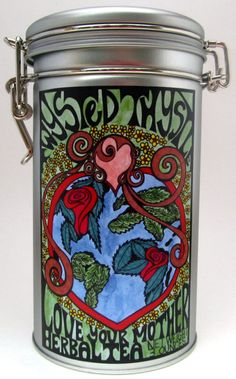 Love Your Mother Herbal Tea Tin by TwystedThystle on Etsy, $18.00