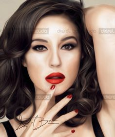 Monica Bellucci painting