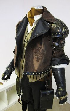 Steampunk jacket fashion clothing clothes equipment gear magic item equipment gear magic item | Create your own roleplaying game material w/ RPG Bard: www.rpgbard.com | Writing inspiration for Dungeons and Dragons DND D&D Pathfinder PFRPG Warhammer 40k Star Wars Shadowrun Call of Cthulhu Lord of the Rings LoTR + d20 fantasy science fiction scifi horror design | Not Trusty Sword art: click artwork for source