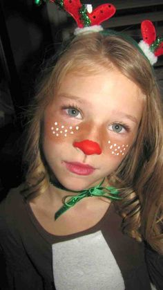 easy christmas costumes christmas costumes rudolph Christmas Face Paint Ideas Elegant Quick Rudolph Face Bronzer for Brown Cheeks and Acrylic Reindeer Face Paint, Reindeer Makeup, Snowman Faces, Too Faced Bronzer, Face Bronzer, Bodysuit Tattoos, Face Painting Designs, Body Painting, Face Painting For Kids