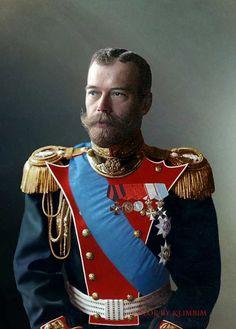 Tsar Nicolas, Tsar Nicholas Ii, Czar Nicolau Ii, Colorized Historical Photos, Mode Russe, Revolution, House Of Romanov, Imperial Russia, Royals