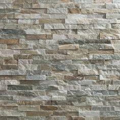 plaquette de parement slimstone beige - LITHOS - LITHOS chez Mr.Bricolage Soylent Green, Stair Landing, Beige, Hardwood Floors, Sweet Home, New Homes, Stairs, House Design, Texture