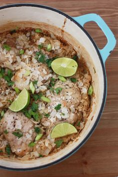 One Pot Coconut Chicken and Rice--quick easy and full of flavor! // guest post at Bless This Mess