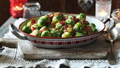 Creamed Brussels sprouts with bacon...in British, but I don't think it will be too hard to figure out. ;)
