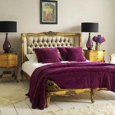 Purple & Gold Room