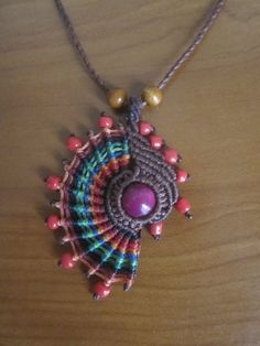macrame necklace... Ideas are running amok -  lol