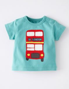 Baby mini Boden boys cute long sleeve cotton t shirt London Bus New York taxi T-Shirts, Tops & Shirts Baby