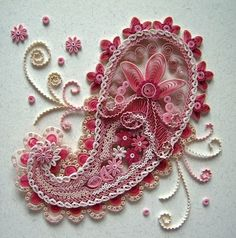 paisley quilling by allthingspaper.net...so pretty!