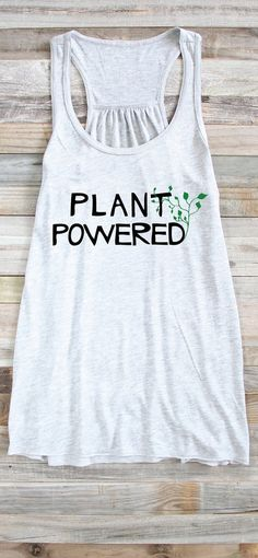 Vegan Tank Plant Powered Shirt Vegan Shirt Vegan Tank Top by ArimaDesigns