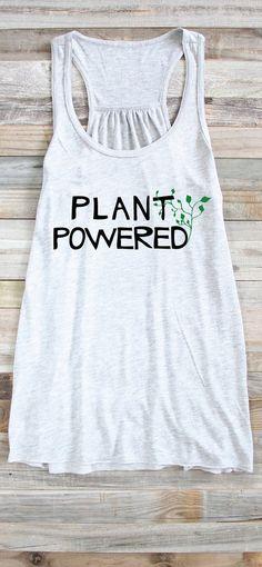 Vegan Tank Plant Powered Shirt Vegan Shirt Vegan Tank Top by ArimaDesigns