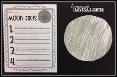 Teaching With Love and Laughter: Word Sorts and Moon Craftivity Activities For 1st Graders, Moon Activities, Science Activities, Educational Activities, Help Teaching, Teaching Science, Science Fair, Teaching Ideas, Moon Facts