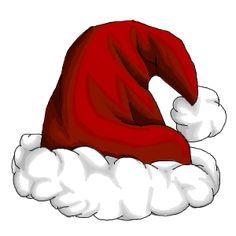 CHRISTMAS, SANTA HAT CLIP ART