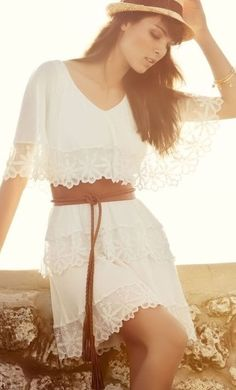 Love! Boho Lace Dress ♥ just add a bit more fabric at the bottom and I'm golden.