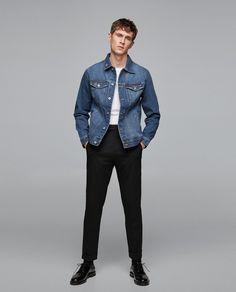 Jean jacket, black trousers. Zara 2018.