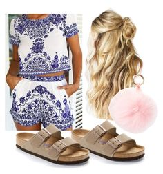 """""""summer spring"""" by josiemae426 on Polyvore featuring Birkenstock and RAJ"""