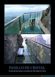 ¿Miedo a las alturas? - El más alto del mundo, a una altura de 1440 metros en China