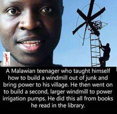 A Malawian teenager