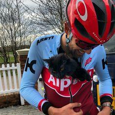 Alex Dowsett - Katusha Alpecin Alex Dowsett, Pro Cycling, Riding Helmets, Cat, Humor, Cat Breeds, Cats, Kitty
