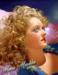 Bette Davis ~~ 1939 ~~ colourised by Maria-Musikka