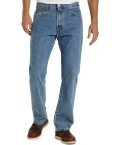 $42, Blue Jeans: Levi's 517 Slim Bootcut Jeans Medium Stonewash. Sold by Macy's. Click for more info: http://lookastic.com/men/shop_items/56313/redirect