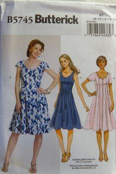 Butterick 5745 Misses' Dress and Belt