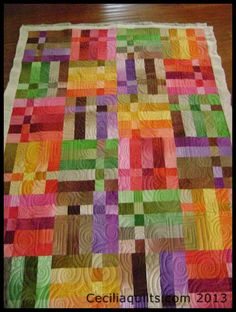 On the Frame with CeciliaQuilts: Colorful Rainbow Squares