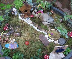I like this fairy garden because it is kid friendly and encourages play and touching.