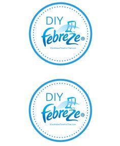 DIY Febreze Label