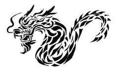 Tribal Tattoo Dragon Art and Design Free Tattoo Designs, Dragon Tattoo Designs, Tribal Tattoo Designs, Tribal Tattoos, Dragon Tattoos For Men, Tattoos For Guys, Tattoo Samples, Year Of The Dragon, Wolf Tattoos