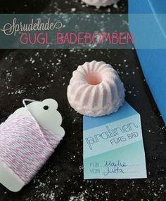Spudelnde Badebomben selbermachen in Gugl Form - wunderschöne DIY Geschenkidee
