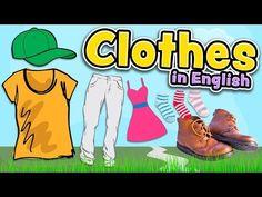Vaatteet englanniksi (Clothes in English) - YouTube