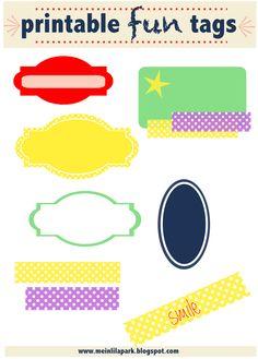 FREE printable fun tag collection | MeinLilaPark – digital freebies