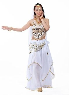 ffee691cf 5pcs/Set Belly Dancing Costume Sets Egyption Egypt Belly Dance Costume  Bollywood Costume Indian Dress Bellydance Dress