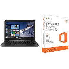 Bộ Laptop ASUS ZENBOOK UX305FA FC068D SSD 256GB 13.3inch (Đen) + Phần mềm office 365 bản quyền