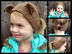 Bear Headband/Ear Warmer by SincerelyApril on Etsy, $15.00