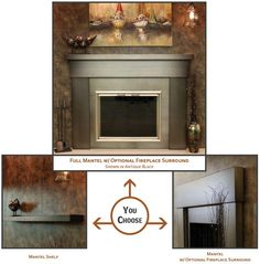 fireplace mantel ideas on pinterest fireplace mantle. Black Bedroom Furniture Sets. Home Design Ideas