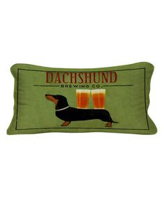 Loving this Dachshund Brewing Co. Lumbar Pillow on #zulily! #zulilyfinds