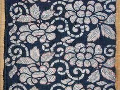 botan-kata-pink-ganryou INDIGO KATAZOME PANEL -- Botan Karakusa w/Pink and GrayPigments -- Narablog