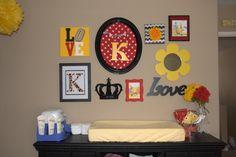 Collage Wall in the nursery