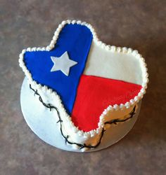 Texas Flag Cake | Flickr - Photo Sharing!